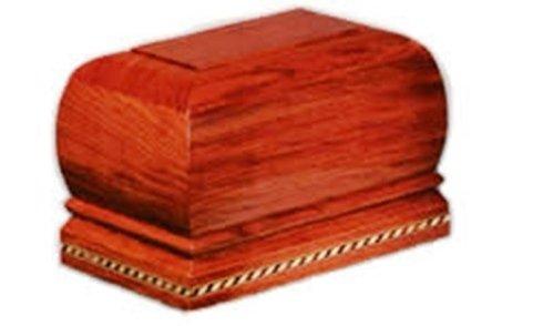 Urna per ceneri e cremazioni in legno in forma quadrata