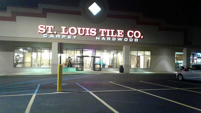 St. Lotus Tile Co. commercial sign