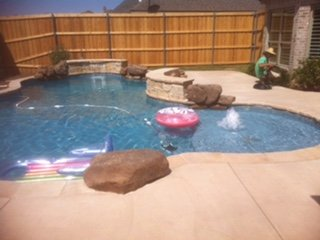 Completed Inground Pool Installation in Canyon, TX - Out-Back Pool & Spa