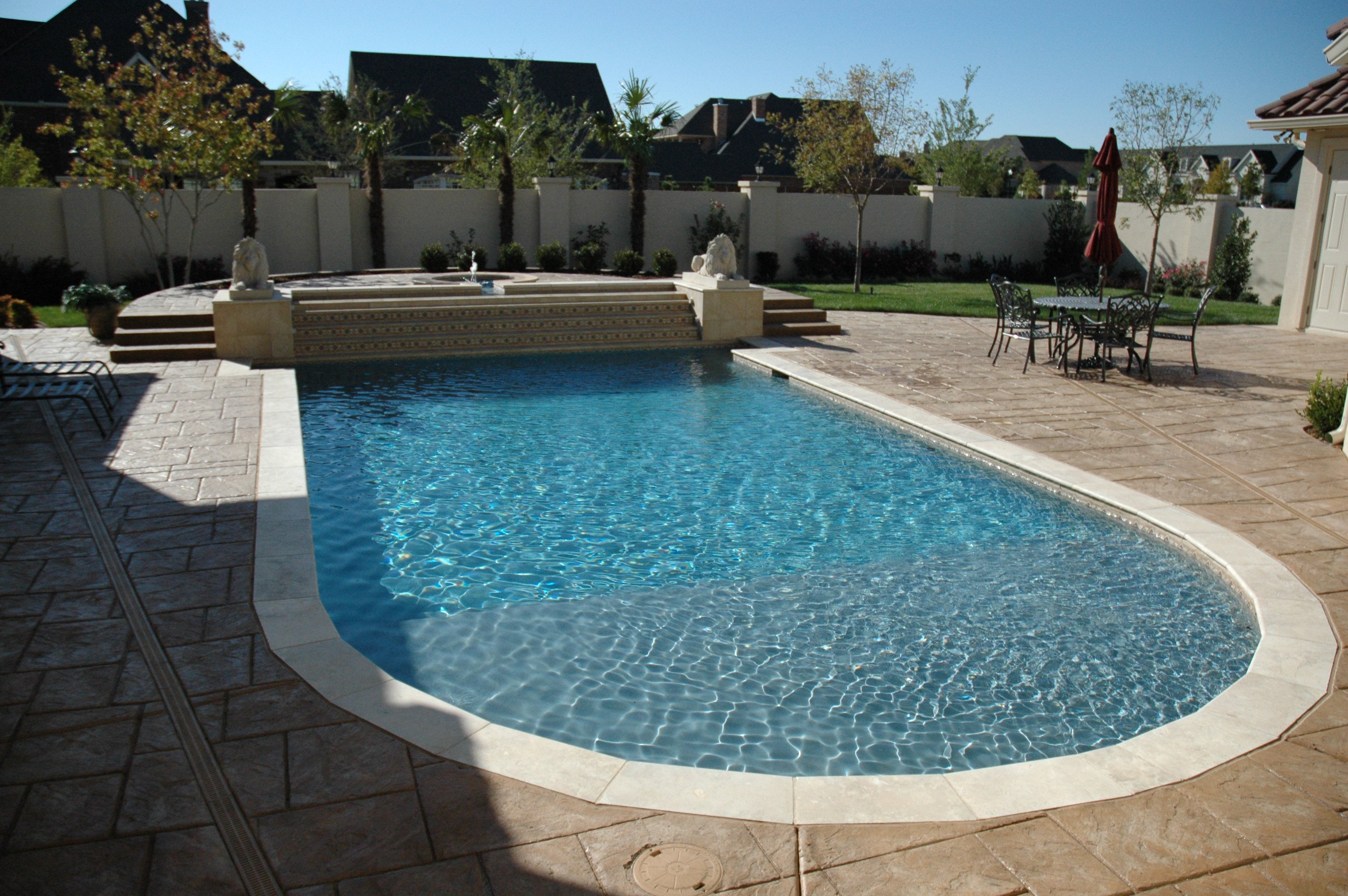 Pool Builder Services In Ground Pool Installation Custom Pool Designs Canyon Pampa
