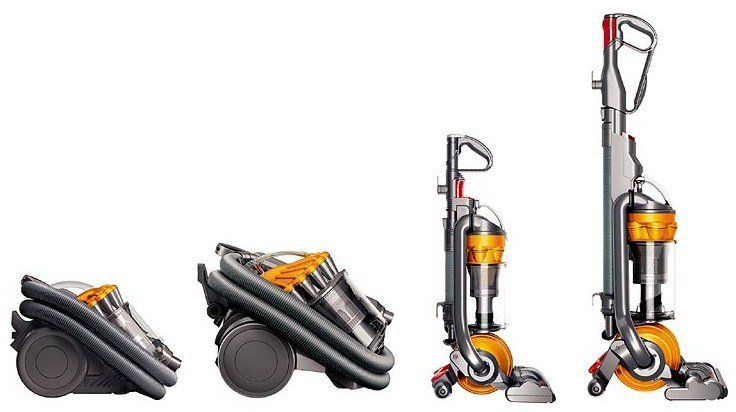 Some of the Dyson range of vacuum cleaners
