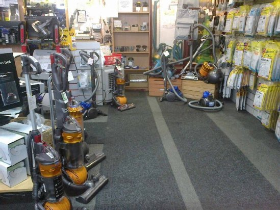 An interior view of our shop