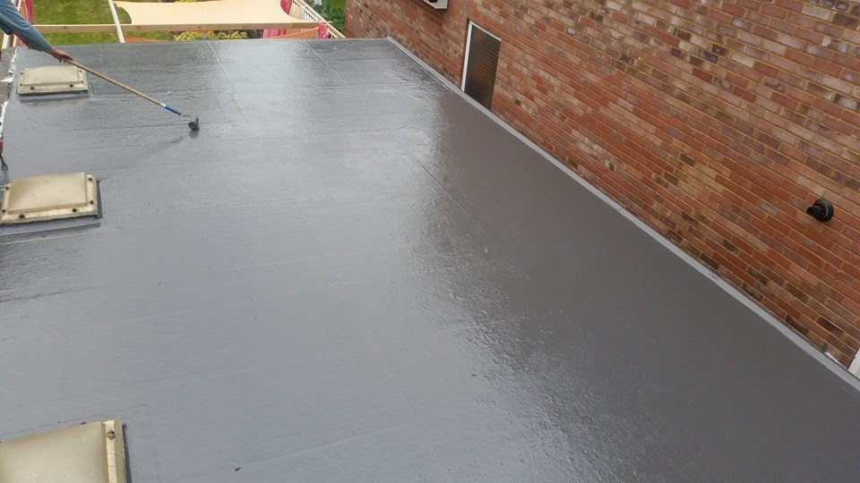 A flat roof installation