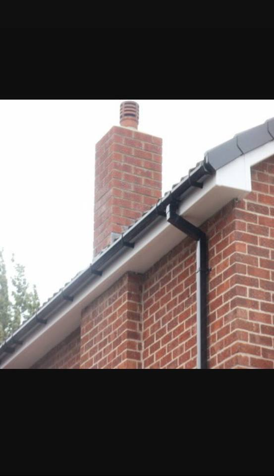 A new gutter, fascia and soffit