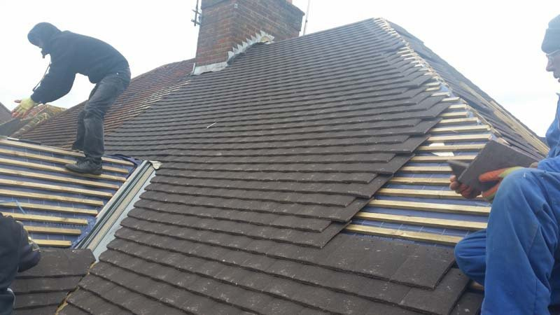 A roof with new tiles