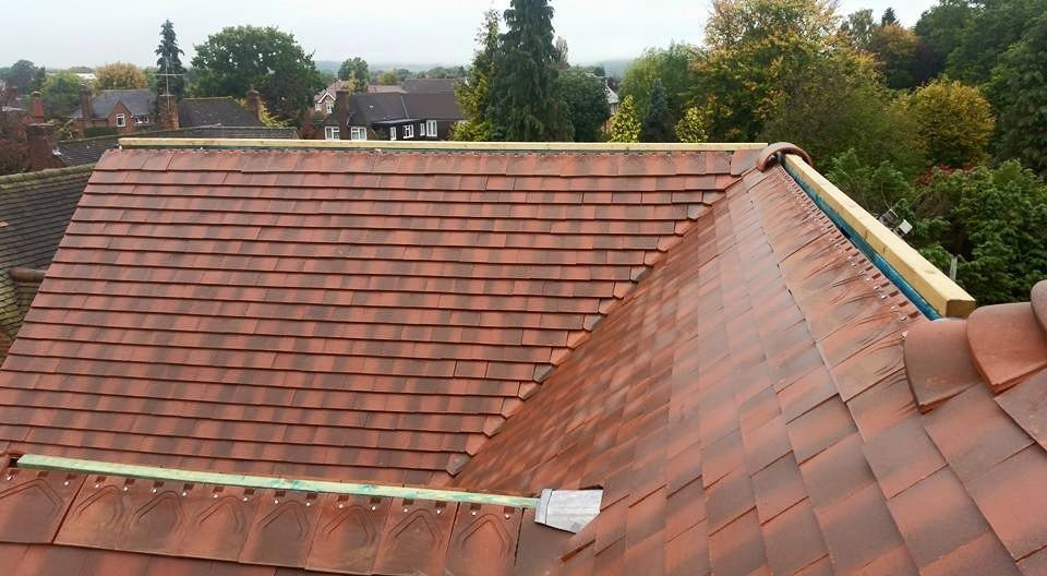 A completed roofing project