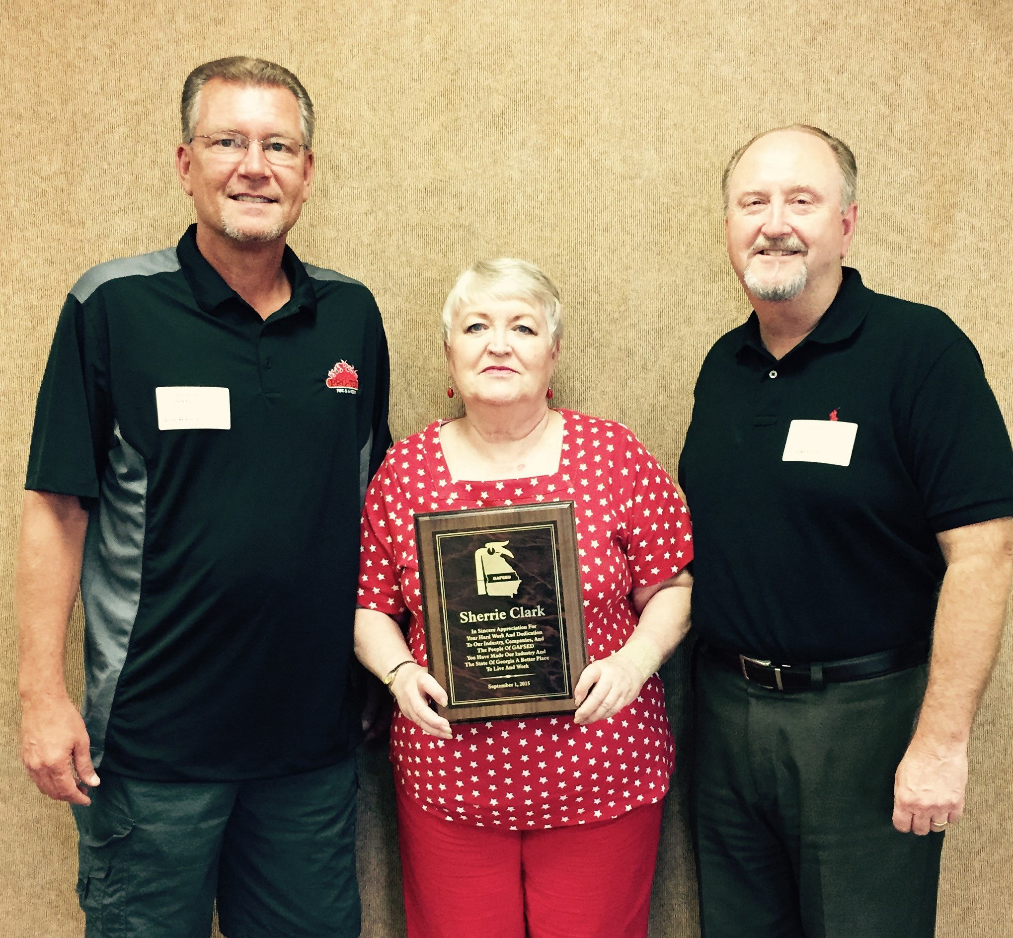 Sherrie Clark  In sincere appreciation for your hard work and dedication to our industry.