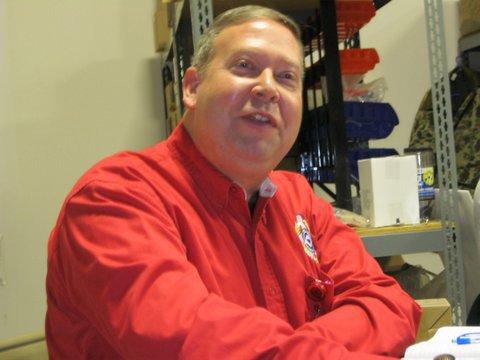 GA State Fire Marshal Dwayne Garriss speaks to GAFSED Board