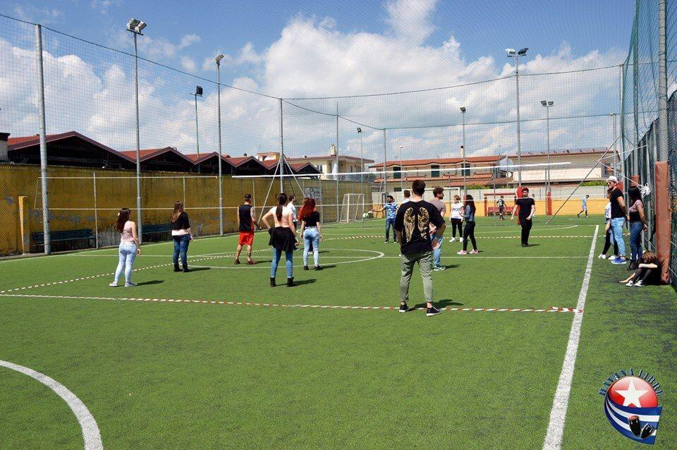 campo di calcio durante una partita