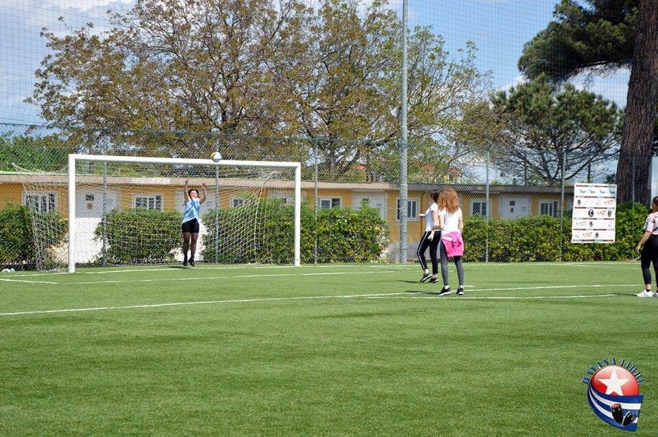 campo di calcio e porta