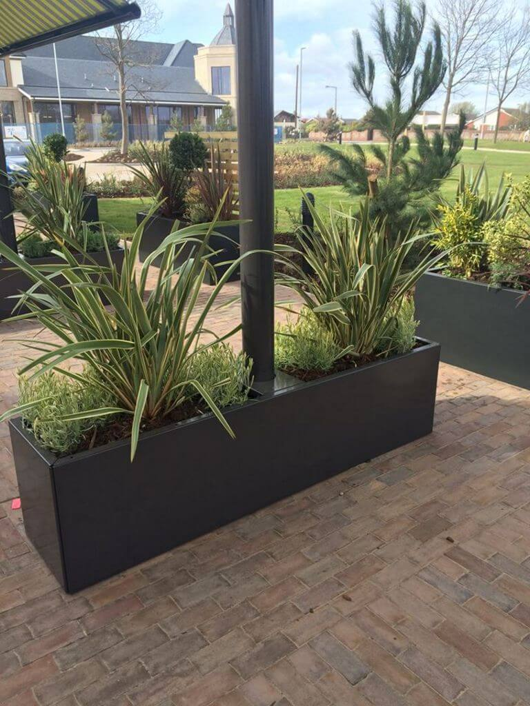 Markilux free standing base for remote non permanent installation of awnings with planting