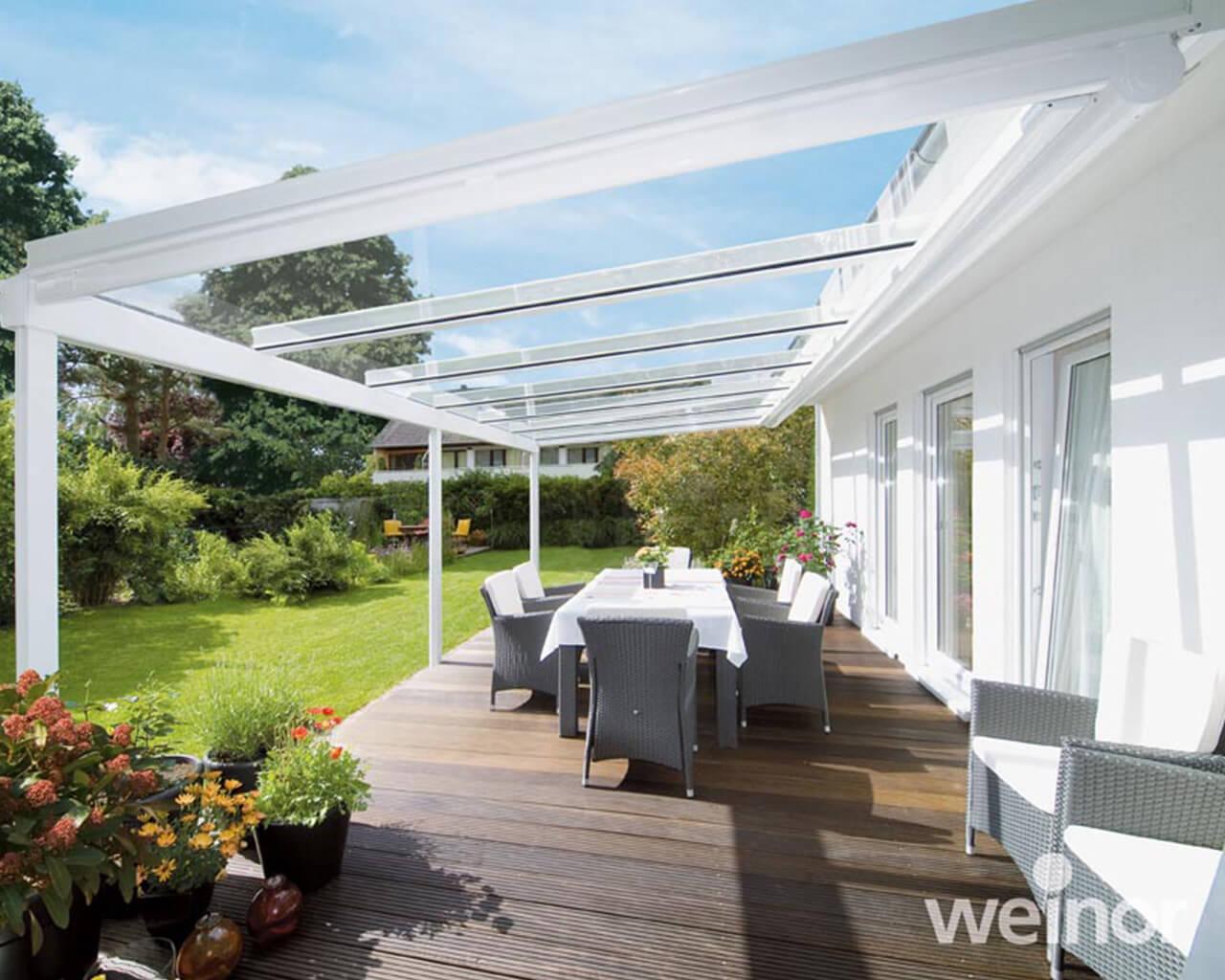 white Glass veranda view 1
