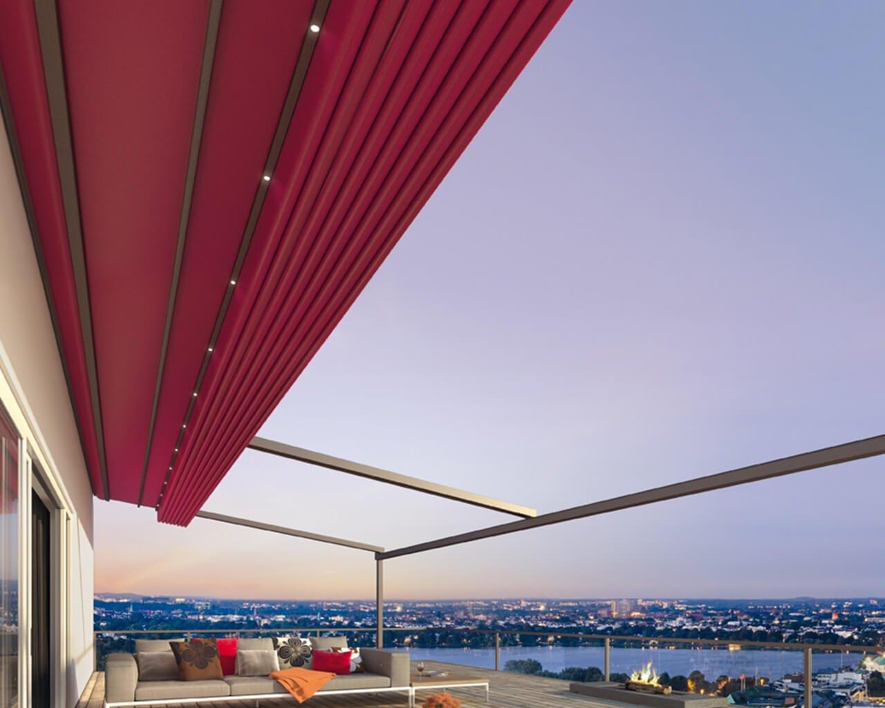 Pergotex retractable roof system