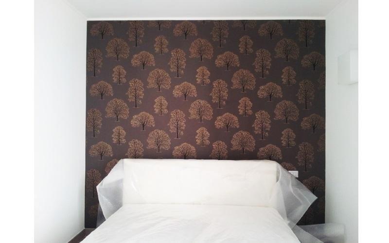 camera da letto con spalliera personalizzata