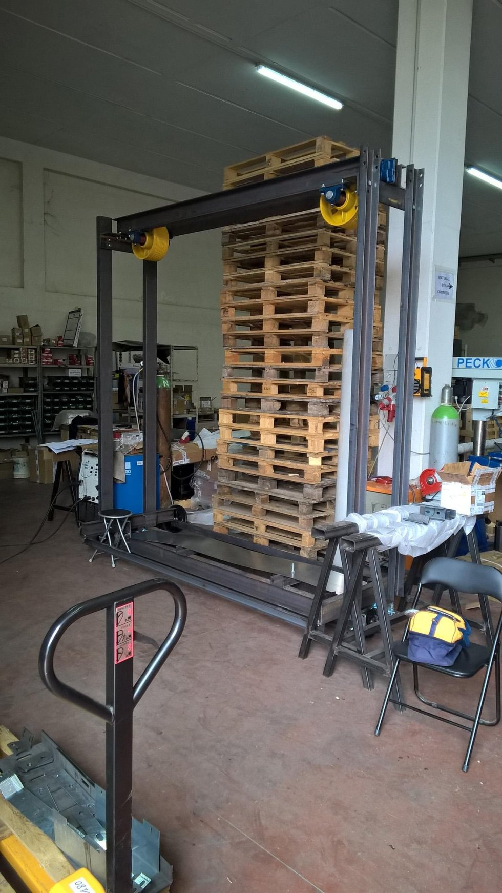 Lift and structure processing stages