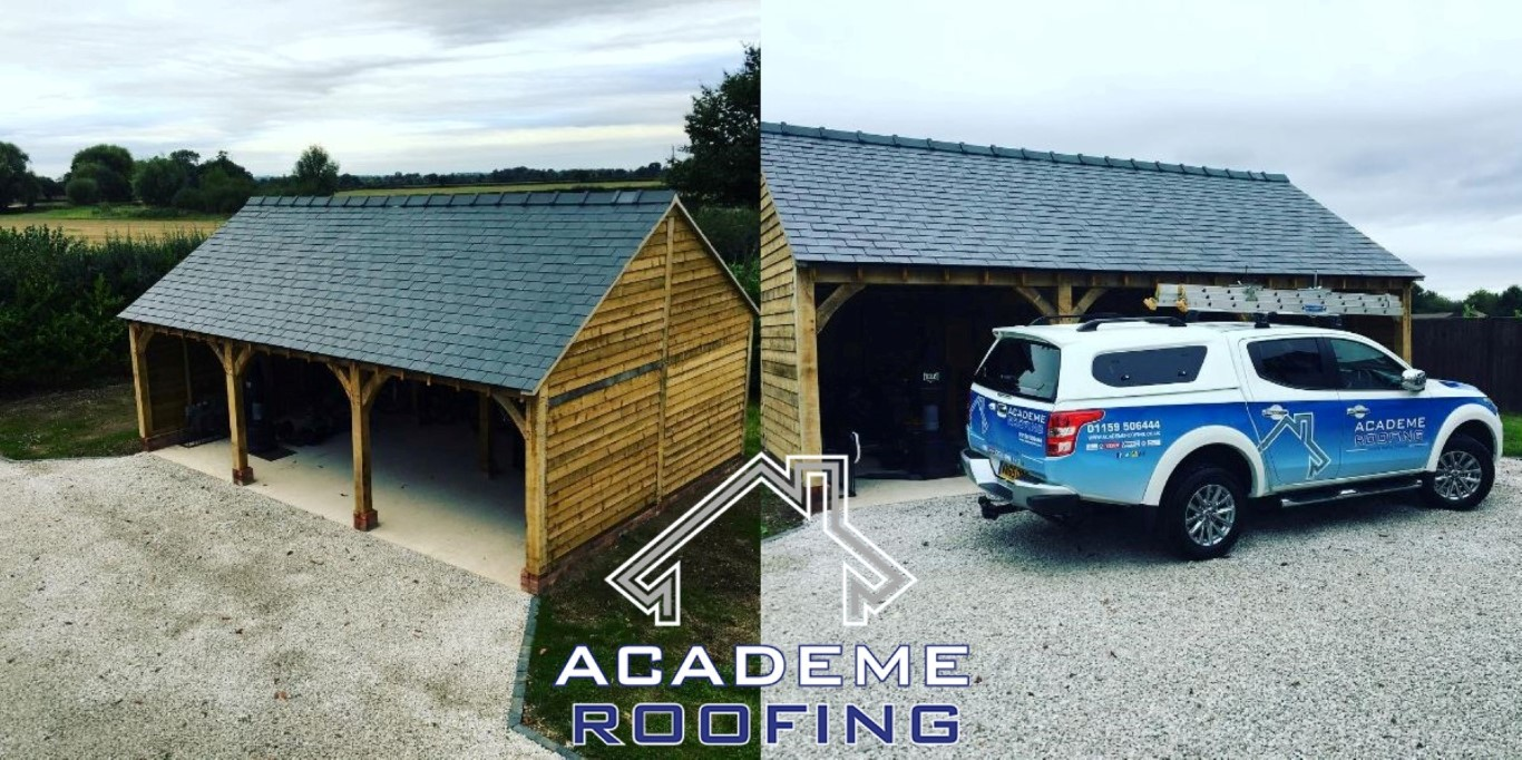 before and after roof installation