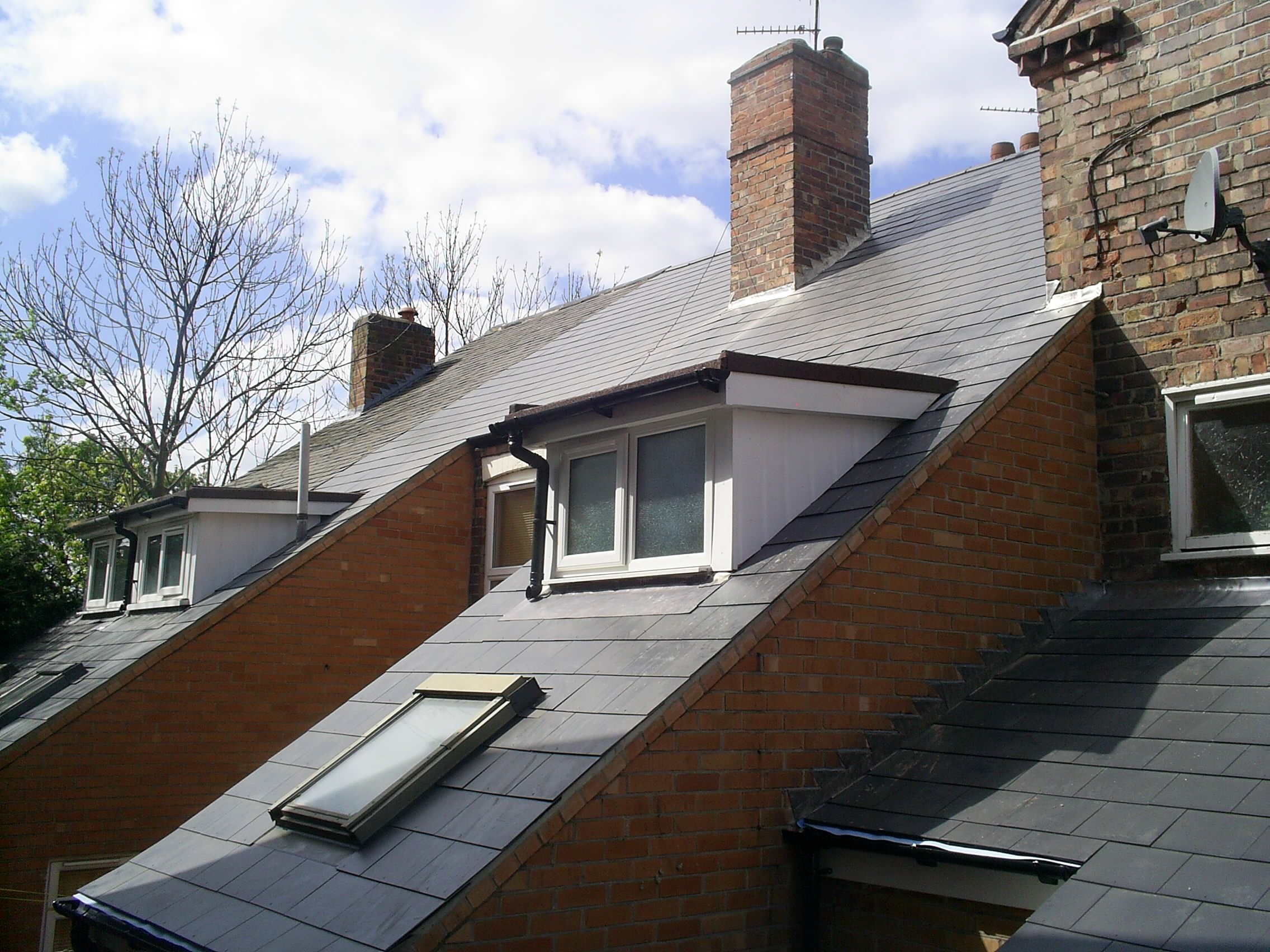 window amidst roof