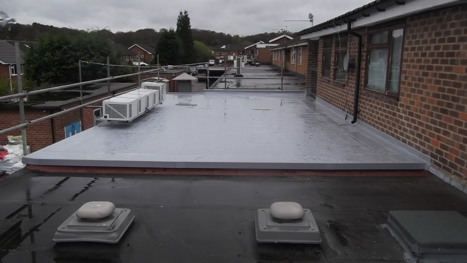 new roof after installation