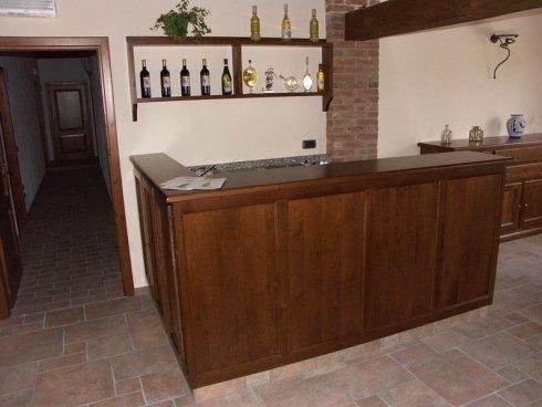 Bancone in legno, bancone in massello, bancone bar