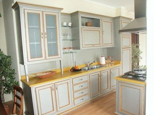 Cucina grigia, cucina in legno grigio, cucina in legno colorato