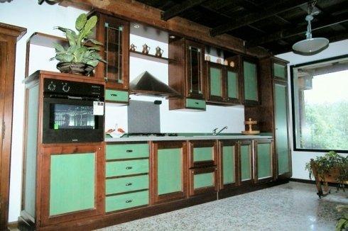 Cucina inserti verdi, cucina inserti colorati, cucina inserti laccati