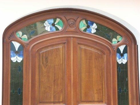 Portone con vetro decorato, portone blindato, portoncini esterni
