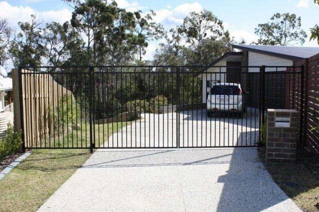 steel gate in driveway