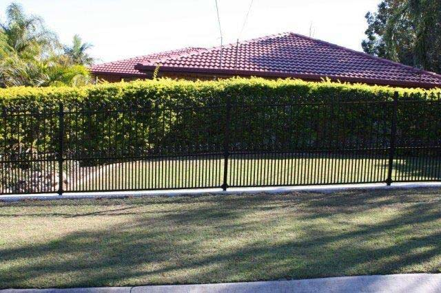 side black steel fence