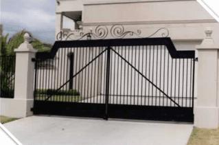 tall fancy steel gate for residence