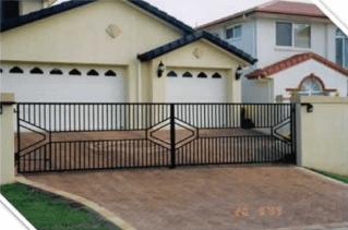 custom designed steel gate