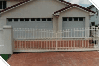 custom coloured and designed residential gate