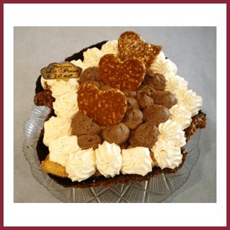 torta con biscotti