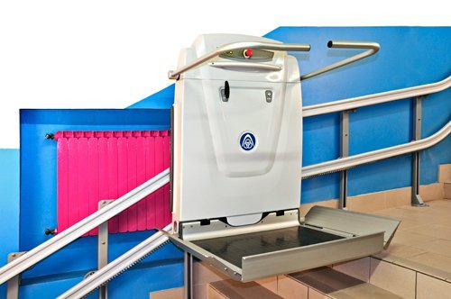 View of a Platform stairlift offered by Anglia Stairlifts