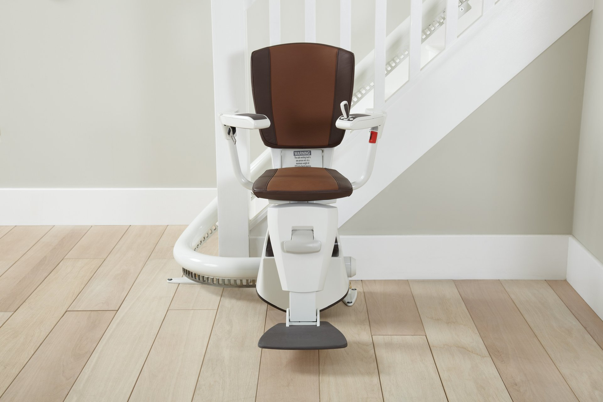 curved stairlift chair