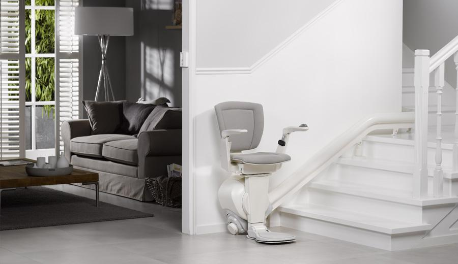 View of white colour stairlifts offered by Anglia Stairlifts