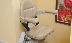 View of a Straight Stairlift chair