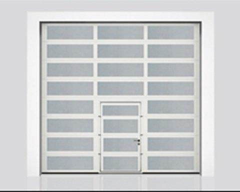 Alltec - portone sezionale industriale finestrato