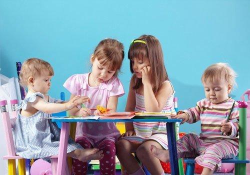 children engrossed in their activity