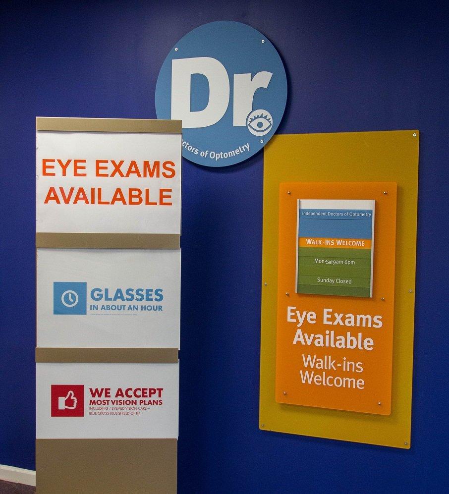Eye Exam signage