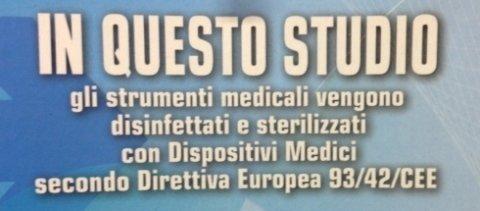 strumenti medici disinfettati