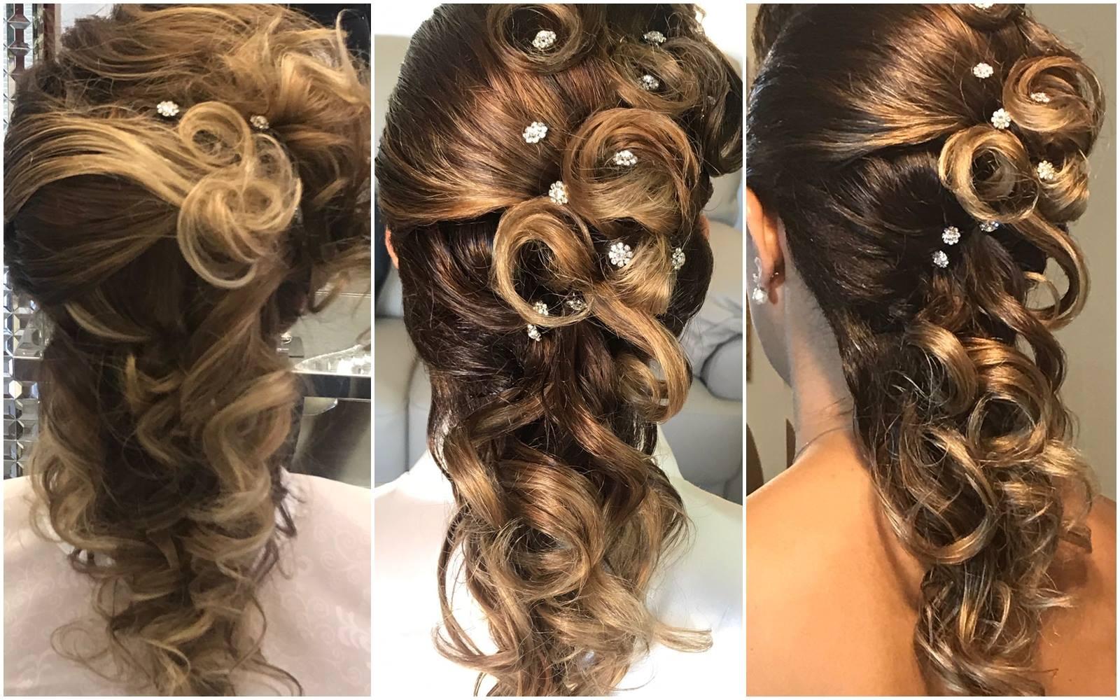 Acconciatura da sposa con capelli mossi