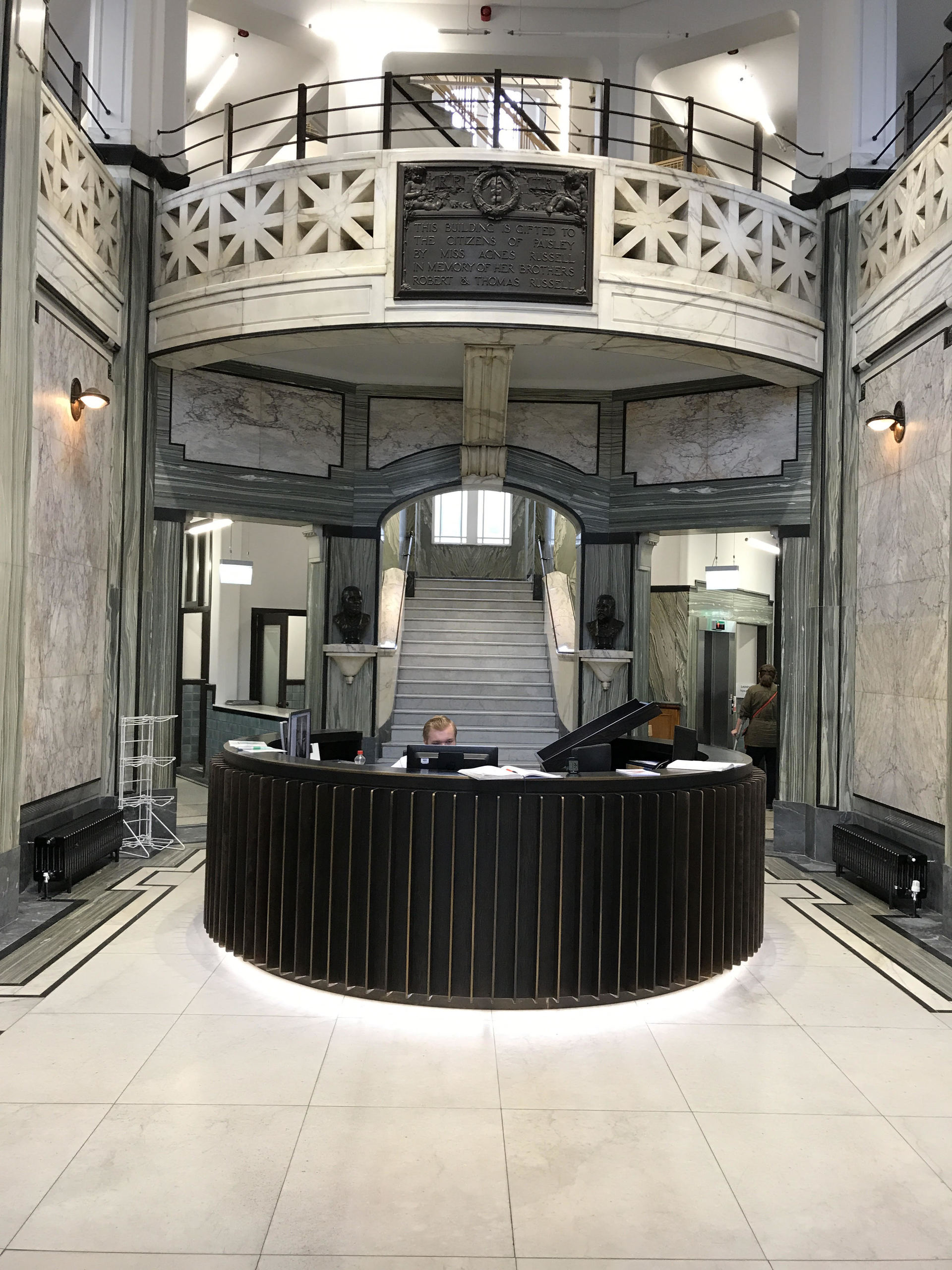 entrance at Russell Institute