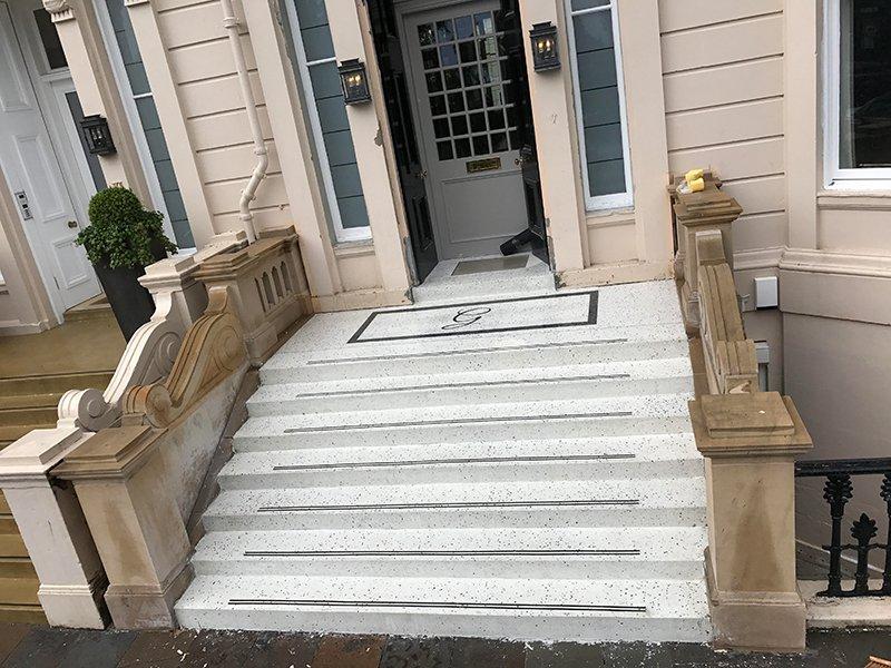 Terrazzo Stairs Installation