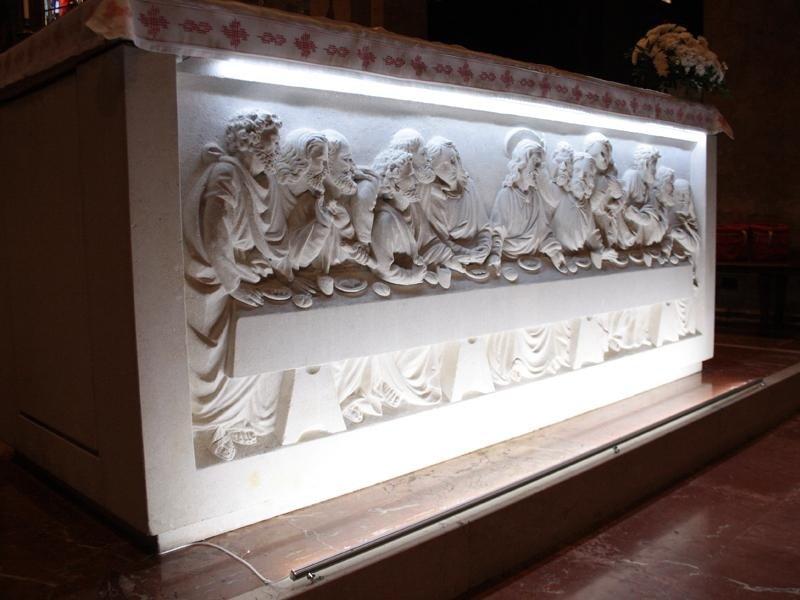 Esempio di realizzazione per illuminazione bassorilievo