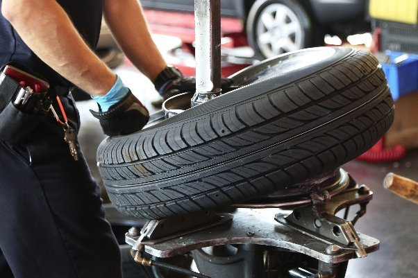 fixing a tire