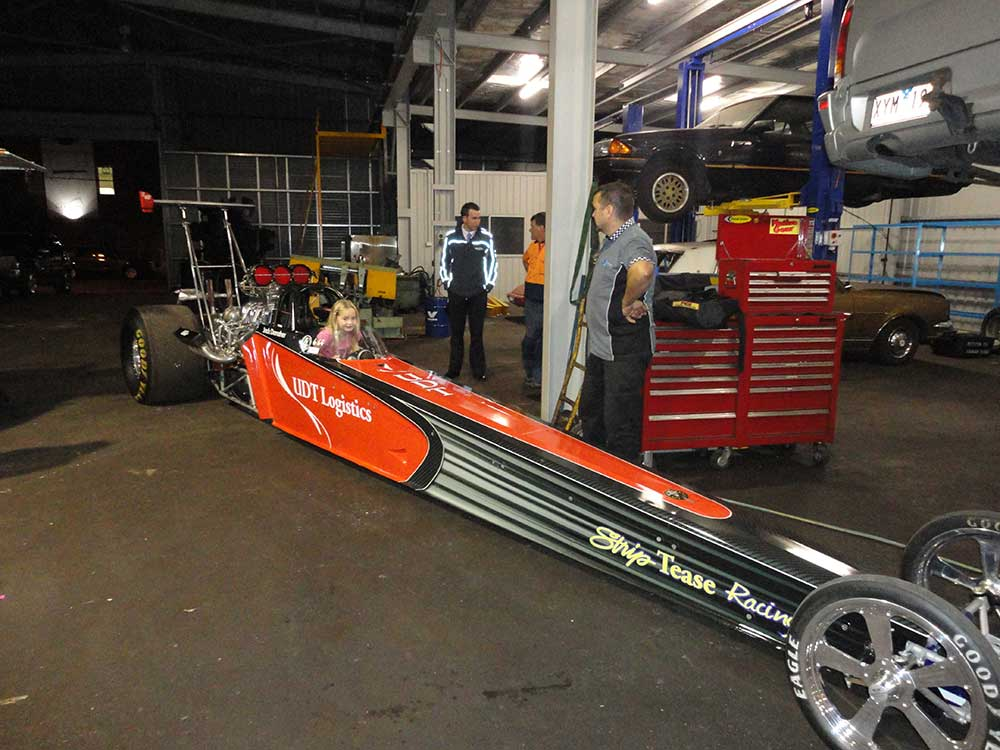 aikman engineering little girl in a dragster