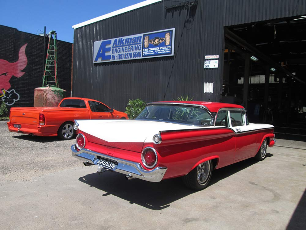 aikman engineering red classic car