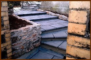 Slate stairs in a garden