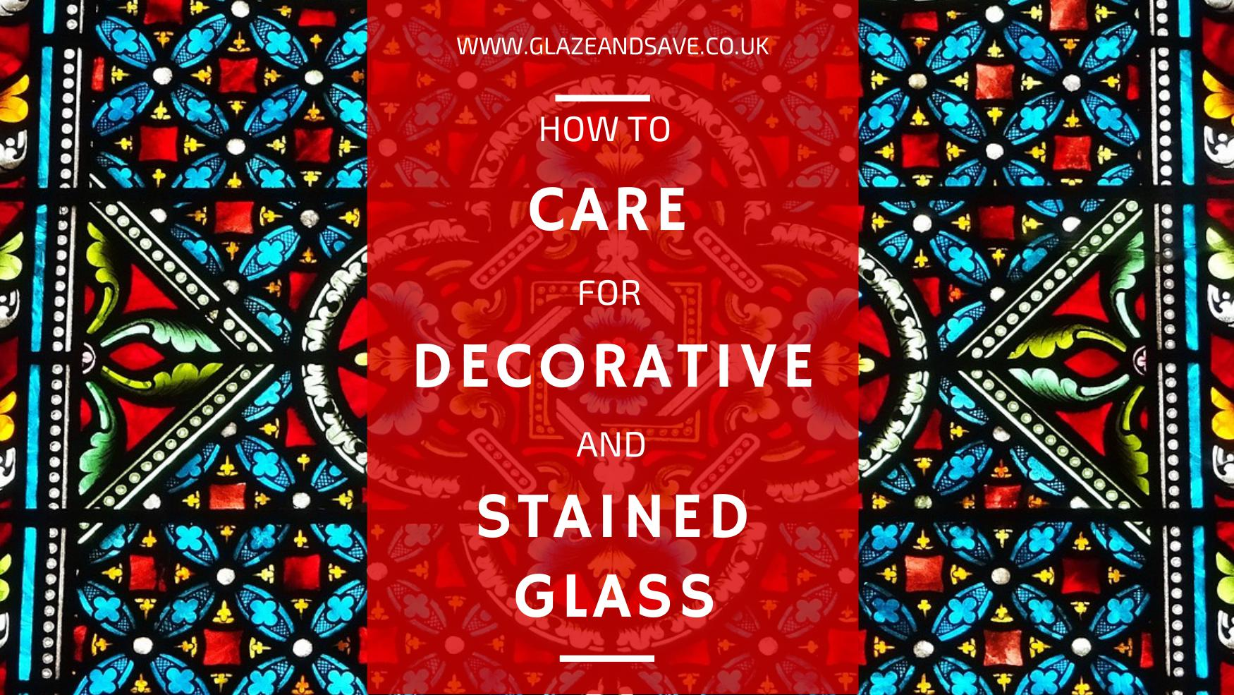 How to care for decorative and stained glass by Glaze & Save bespoke magnetic secondary glazing and draught proofing specialists based in Perth, Scotland.