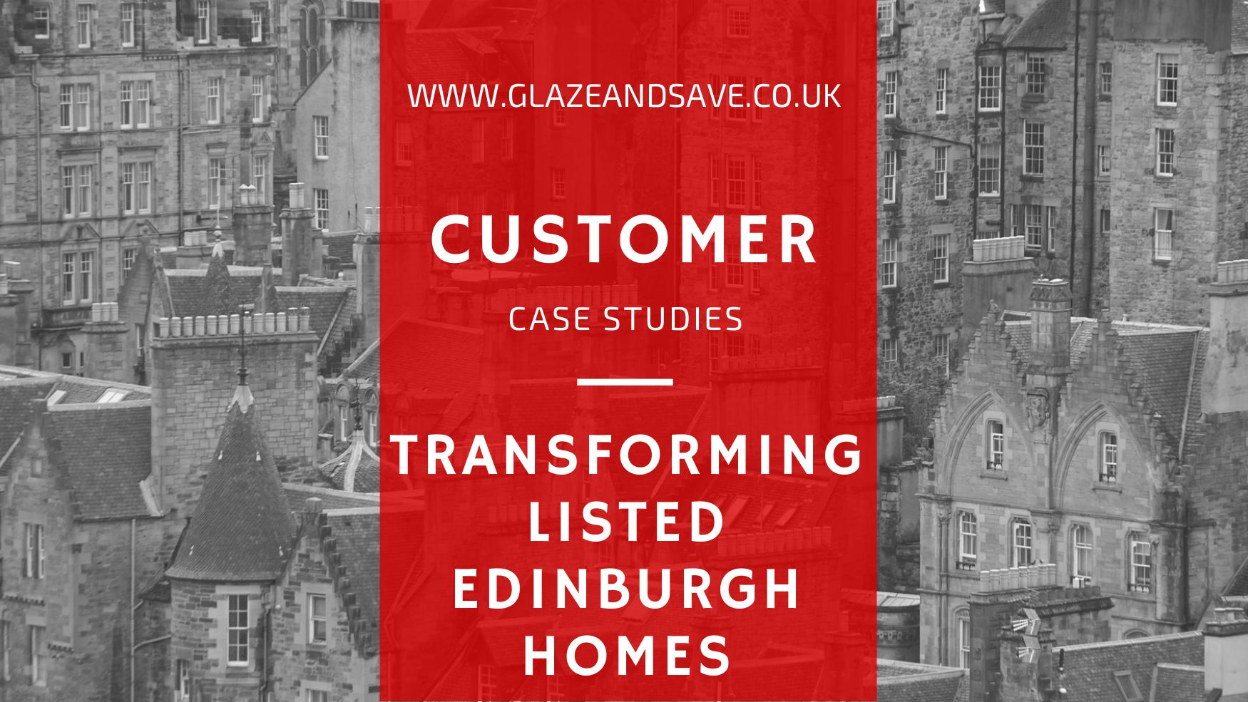 Transforming listed Edinburgh hoes with Glaze & Save InvisiTherm bespoke magnetic secondary glazing and draught proofing.